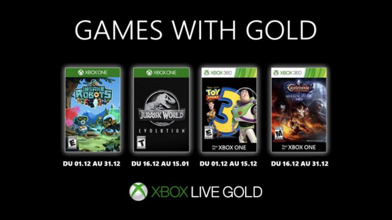 Xbox Games With Gold - Les jeux offerts de décembre 2019