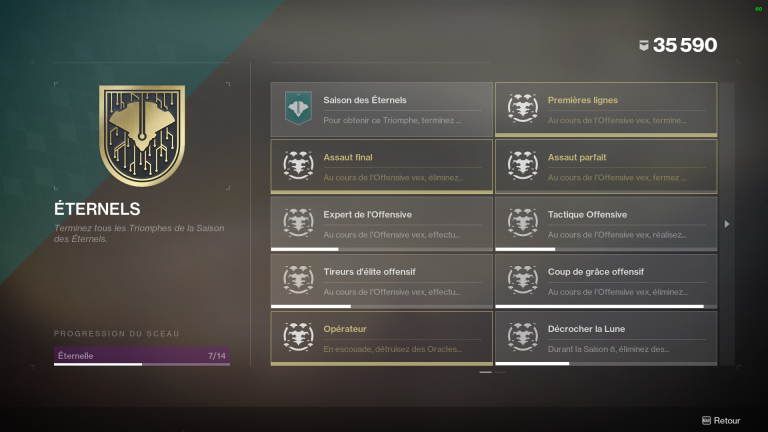 Destiny 2, fin de la Saison des Éternels : dépêchez-vous de terminer vos défis, notre Guide