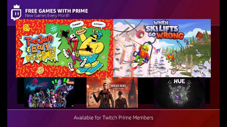 Twitch Prime : Sherlock Holmes et ToeJam & Earl à l'affiche des jeux de décembre