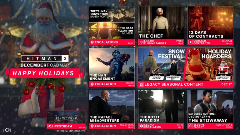 Hitman 2 : l'Agent 47 sort son costume de père Noël