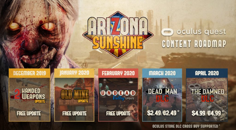 Arizona Sunshine dévoile sa feuille de route sur Oculus Quest