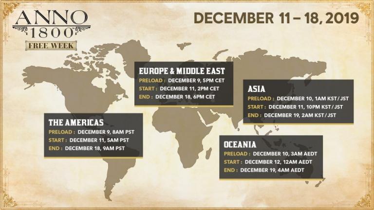 Anno 1800 : un essai gratuit du 11 au 18 décembre