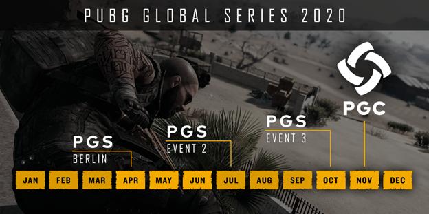 PUBG détaille l'organisation de ses Global Series pour 2020