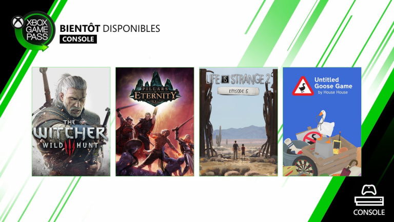 Pillars of Eternity et Life is Strange 2 : Episode 5 rejoignent le Xbox Game Pass console
