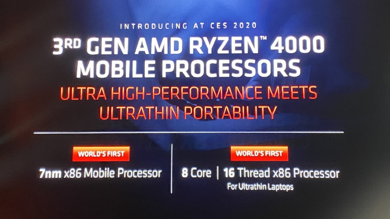 CES 2020 : les processeurs Ryzen 4000 officialisés chez AMD
