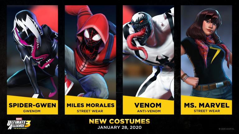 Marvel Ultimate Alliance 3 reçoit quatre nouveaux costumes
