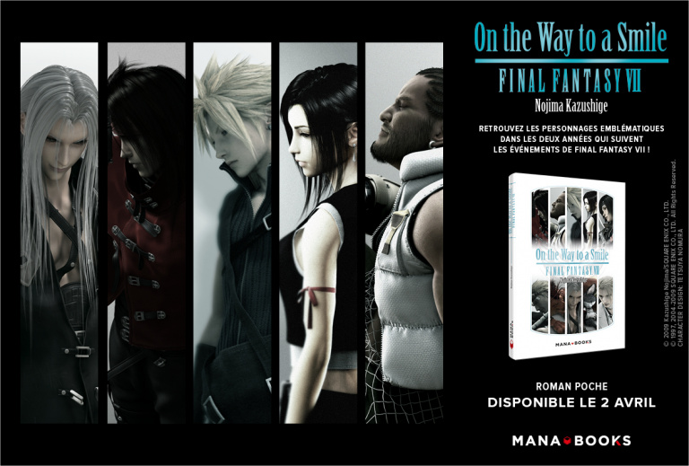 Final Fantasy VII : l'ouvrage On the Way to a Smile va être réédité par Mana Books
