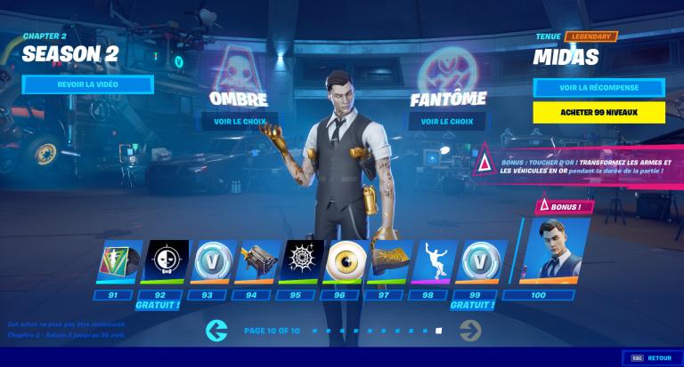 Fortnite, Chapitre 2, saison 2 : les bonus de skins, notre guide
