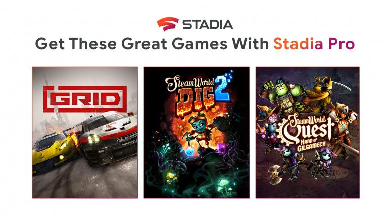 Google Stadia Pro : les abonnés peuvent récupérer GRID et deux jeux Steamworld