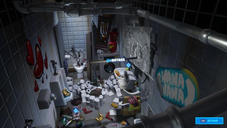Fortnite, Chapitre 2, saison 2 : Trouver les katanas de Deadpool (défis de Deadpool)