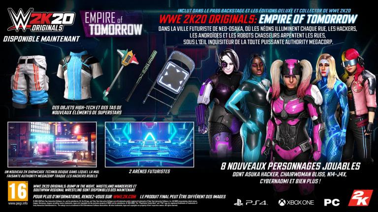 WWE 2K20 - Le contenu Originals Empire of Tomorrow est disponible