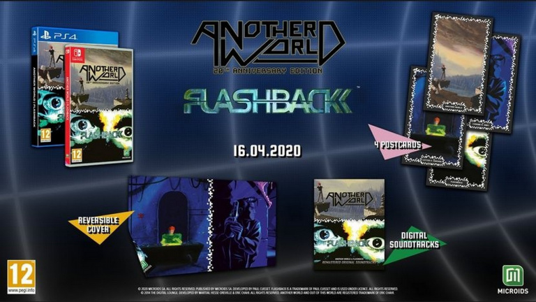 Another World & Flashback : la compilation est disponible sur PS4 et Switch