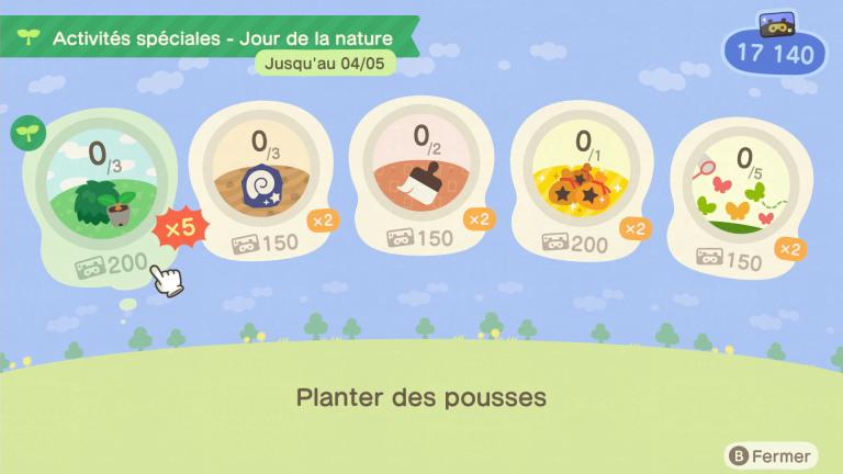 """[MàJ] Animal Crossing New Horizons : fin de l'événement """"Jour de la nature"""" 2020, notre guide"""