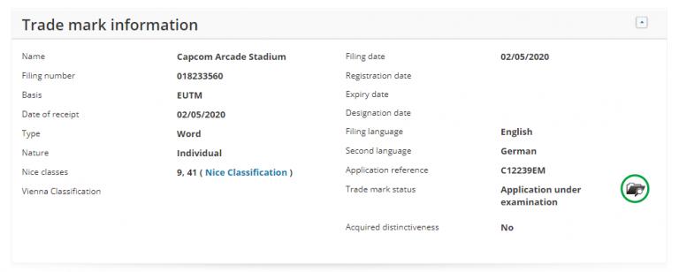 Capcom dépose la marque Capcom Arcade Stadium