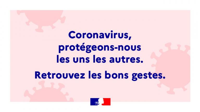 COVID-19 : la lutte contre le coronavirus se poursuit avec les gestes barrières