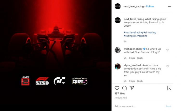 [Rumeur] Gran Turismo 7 évoqué pour 2020 par Next Level Racing