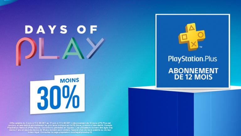 Days of Play : l'abonnement 12 mois au PlayStation Plus est à -30%
