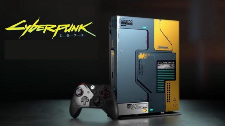 Xbox One X Cyberpunk 2077 : Un message de remerciement est caché à la base de la machine