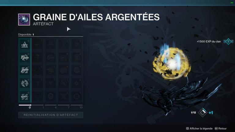 Destiny 2, la Saison de l'Arrivée : comment débloquer la Graine d'Ailes Argentées (l'Artefact Saisonnier)