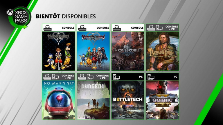 Xbox Game Pass : No Man's Sky, Kingdom Hearts et Thronebreaker au programme en juin