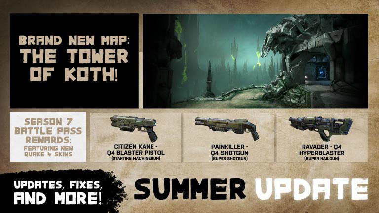 Quake Champions a reçu une nouvelle carte