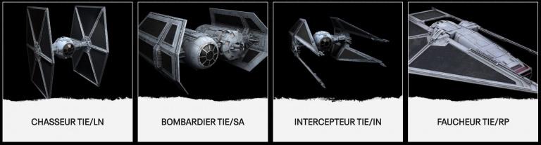 Star Wars : Squadrons présente ses chasseurs stellaires