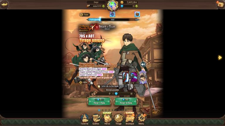 "Seven Deadly Sins Grand Cross, Mikasa Ackerman ""Super Soldat"", faut-il l'invoquer ? Analyse et guide"