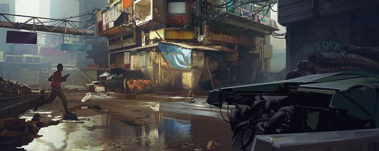 Cyberpunk 2077 : Deux nouveaux artworks pour illustrer Pacifica