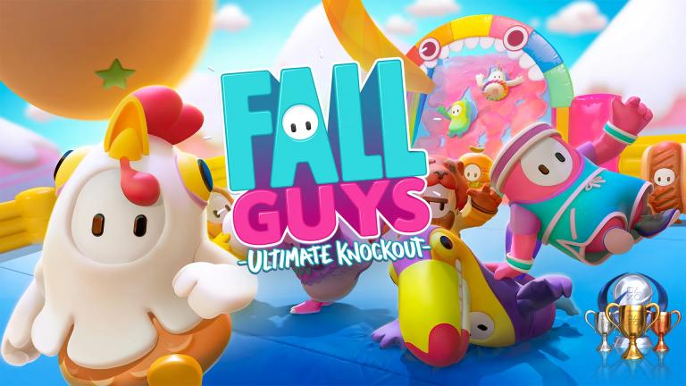 Fall Guys Ultimate Knockout : les trophées du jeu multi événement de l'été