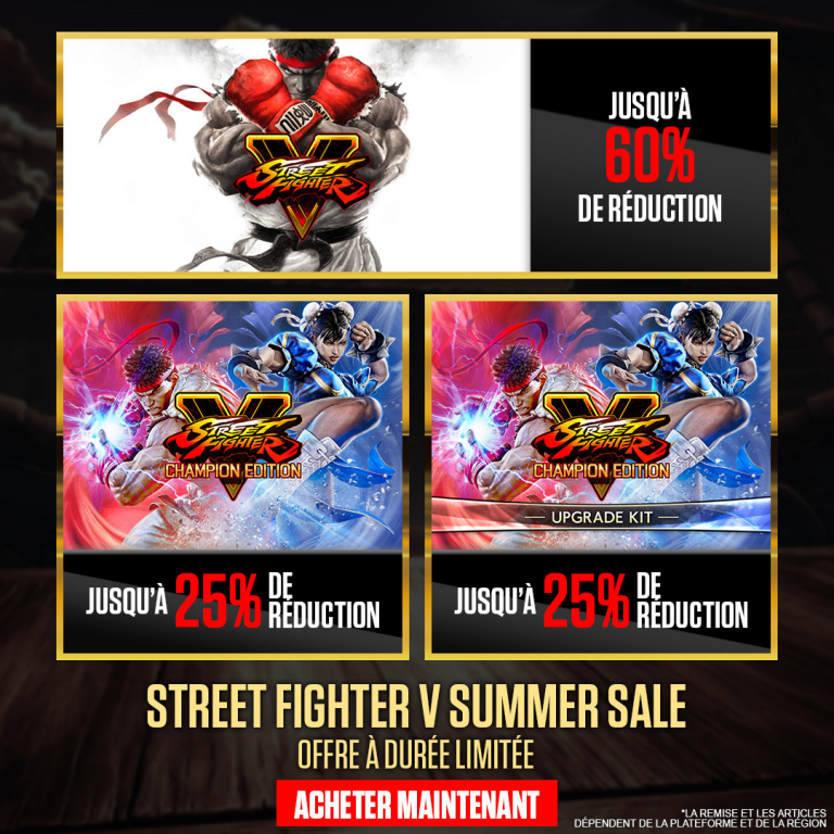 [MàJ] Street Fighter V : Champion Edition débute ses deux semaines d'essai gratuit
