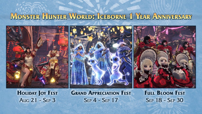 Monster Hunter World : Iceborne - Les trois événements saisonniers sont de retour