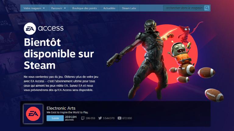 EA Access : La page Steam du service est lancée