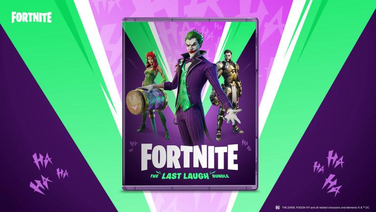 Fortnite : le pack Dernier rire sortira en physique sur PS5, Xbox Series X, PS4, Xbox One et Switch
