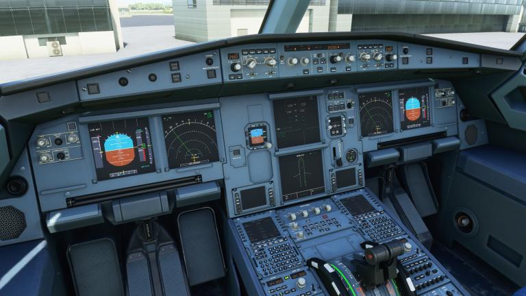 Flight Simulator, Airbus 320neo : Paramétrage du FCU (panneau du pilote automatique)