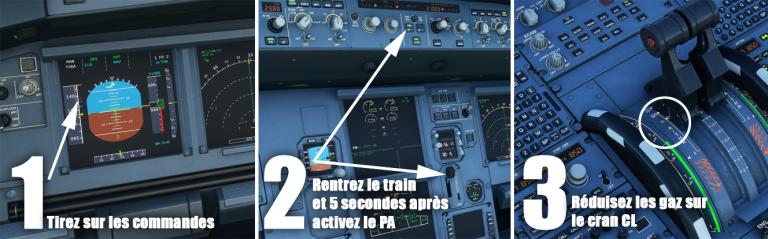 Flight Simulator, Airbus 320neo : Décollage