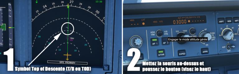 Flight Simulator, Airbus 320neo : Descente