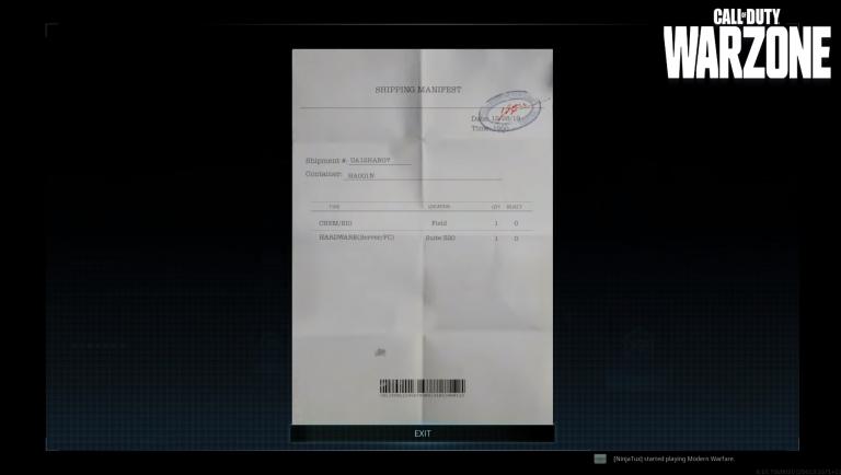 Call of Duty Warzone, saison 5, mission Péchés du père : le hardware a été livré a la suite 320, l'entrée nécessite un code d'accès, notre guide