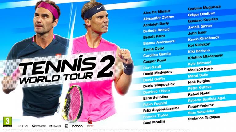 Tennis World Tour 2 : la liste des joueurs et joueuses dévoilée