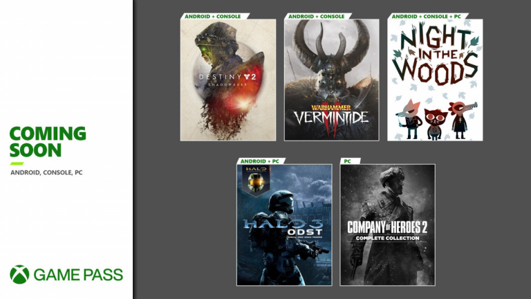 Xbox Game Pass : Company of Heroes 2, Night in the Woods... Les nouveautés à venir
