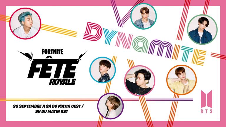 Fortnite : Le groupe BTS diffusera son nouveau clip en avant-première dans le jeu