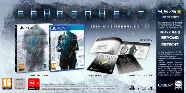 Fahrenheit : Une édition 15th Anniversary annoncée en boîte sur PS4