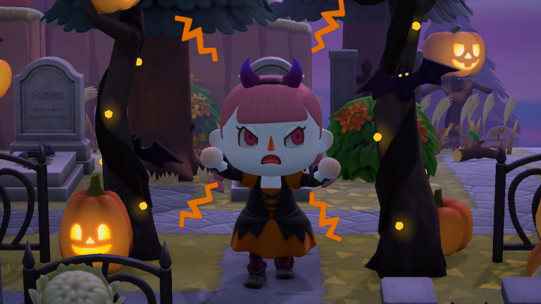 New Horizons dévoile sa mise à jour d'Halloween — Animal Crossing