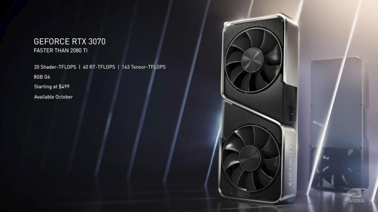 GeForce RTX 3070 : la carte graphique de Nvidia va avoir du retard
