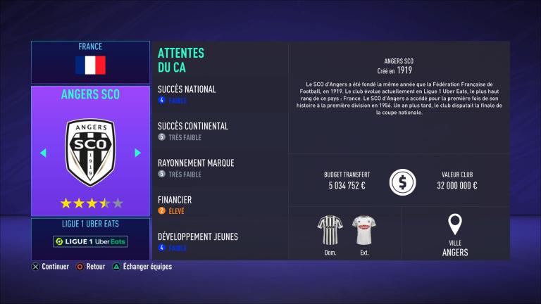 FIFA 21 : tous les budgets des clubs de Ligue 1 Uber Eats (France)