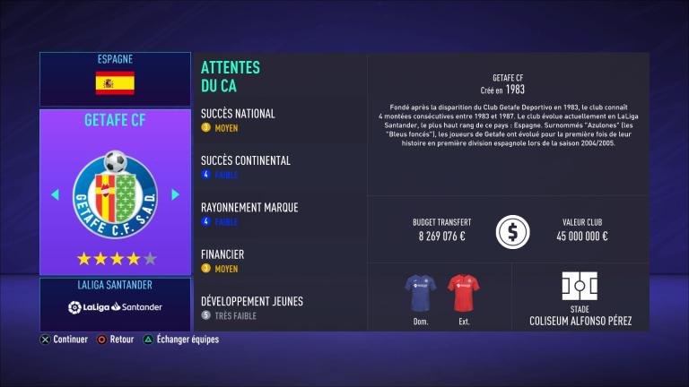FIFA 21 : tous les budgets des clubs de LaLiga Santander (Espagne)