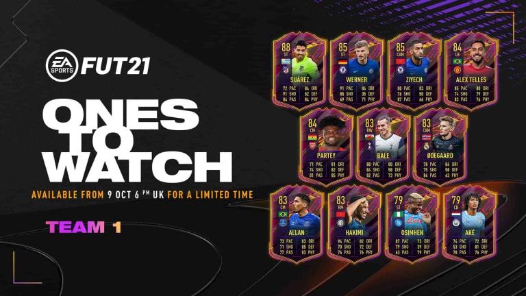 FIFA 21, FUT : la première équipe des joueurs à surveiller (Ones to watch / OTW)