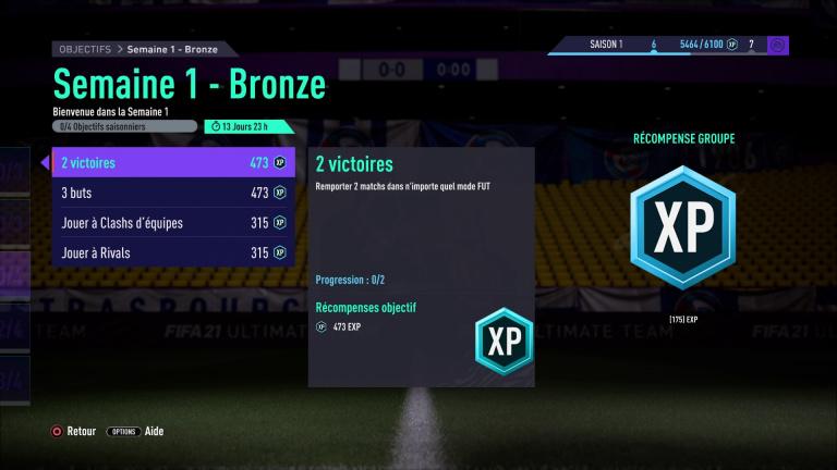 FIFA 21, FUT : défis hebdomadaires semaine 1, saison 1, notre guide