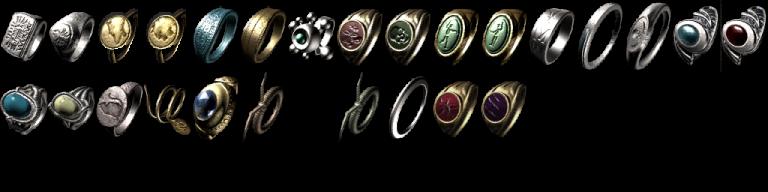 Liste des anneaux