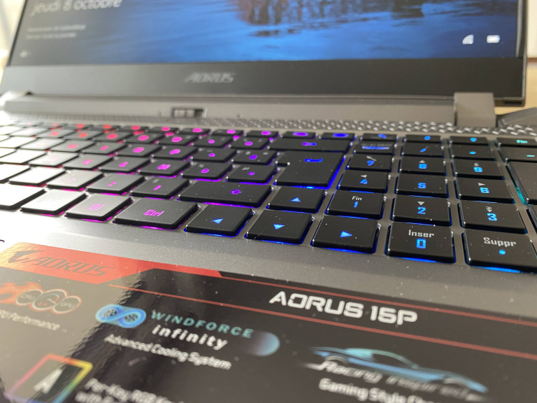 Test du portable Aorus 15P: efficacité et sobriété