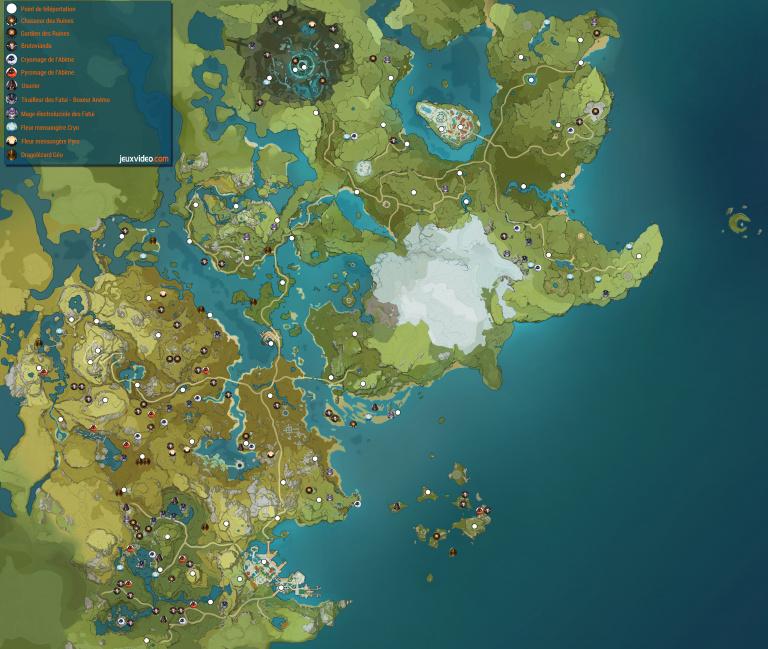 Genshin Impact, carte des mini-boss : où farmer des ressources sans dépenser de Résine